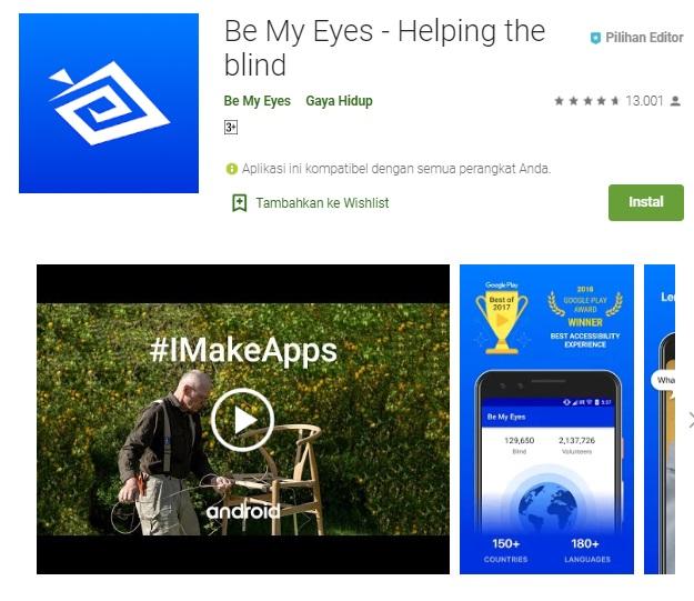 aplikasi be my eyes