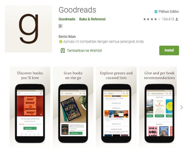 aplikasi goodreads