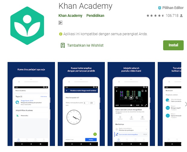aplikasi khan academy