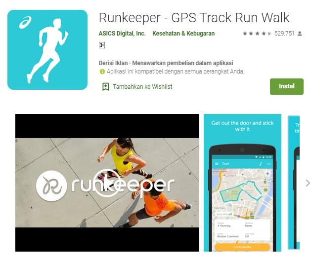 aplikasi runkeeper