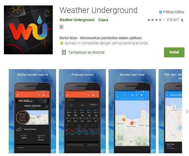 aplikasi weather underground