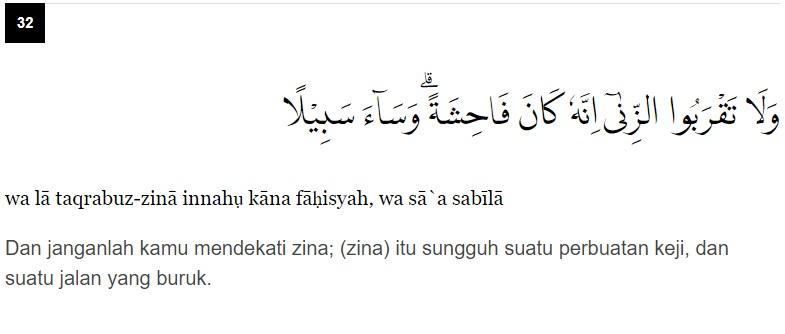 Al Isro Ayat 32